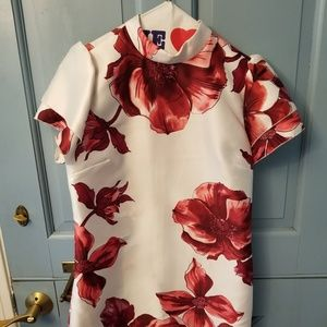 Hot Gal Red Floral Dress